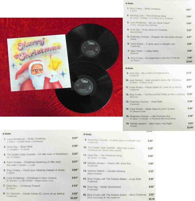 2LP Merry Christmas (Bella Musica 7023/24) feat Dean Martin Bing Crosby Sinatra