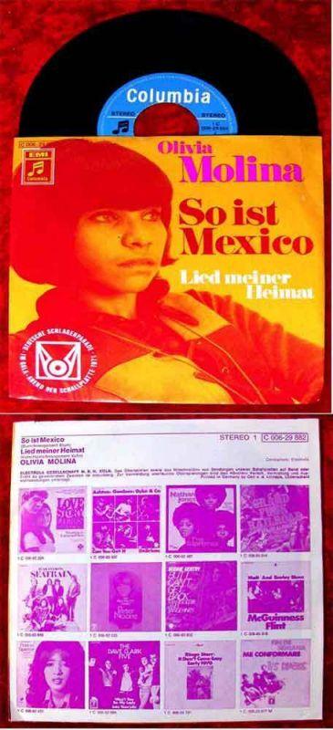 Single Olivia Molina: So ist Mexico (Columbia 006-29 882) D 1971 0