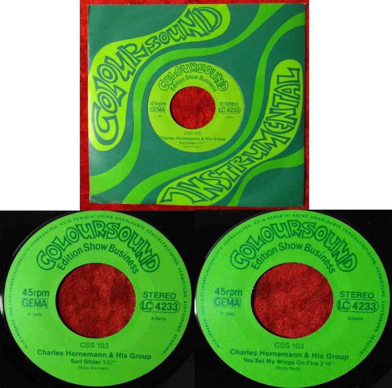 Single Charles Homemann & His Group: Surf Glider  (Coloursound 103) D 1985 0