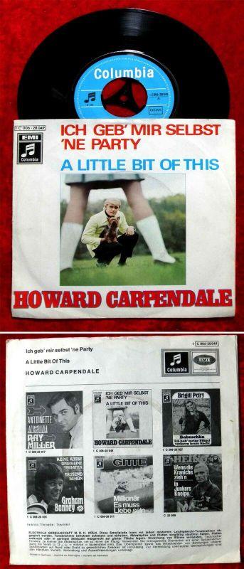 Single Howard Carpendale: Ich geb mir selbst ´ne Party (Columbia 1C 006-28 049) 0
