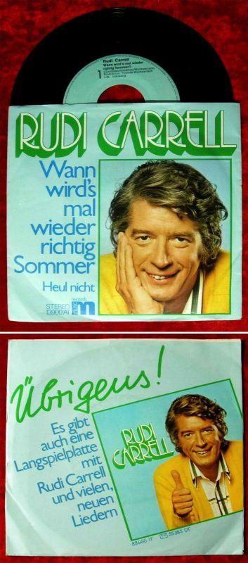 Single Rudi Carrell: Wann wird´s mal wieder richtig Sommer (M 13 900 AT) D 0