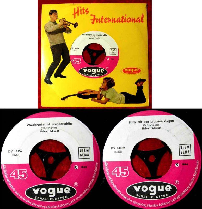 Single Helmut Schmidt: Wiedersehn ist wunderschön (Vogue DV 14152) D 1964 0