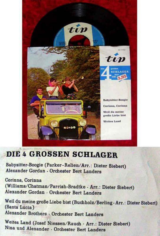 EP Nina & Alexander / Alexander Gordan : Die 4 grossen Schlager (Tip 63-1102) 0