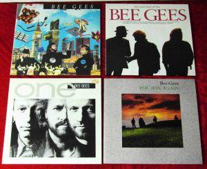 3 Langspielplatten / 1 Maxi von BEE GEES - Vinylsammlung -