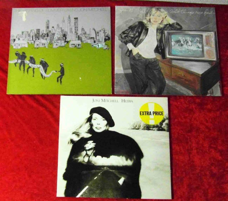3 Langspielplatten JONI MITCHELL   - Vinylsammlung - 0