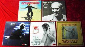 6 Langspielplatten HERMAN VAN VEEN   - Vinylsammlung -