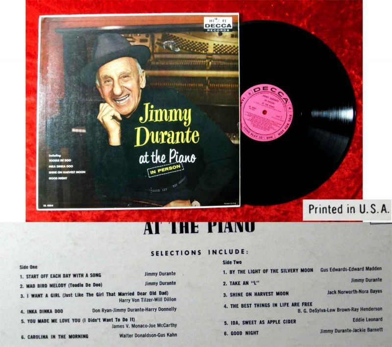 LP Jimmy Durante at the Piano In Person (Decca DL 8884) US