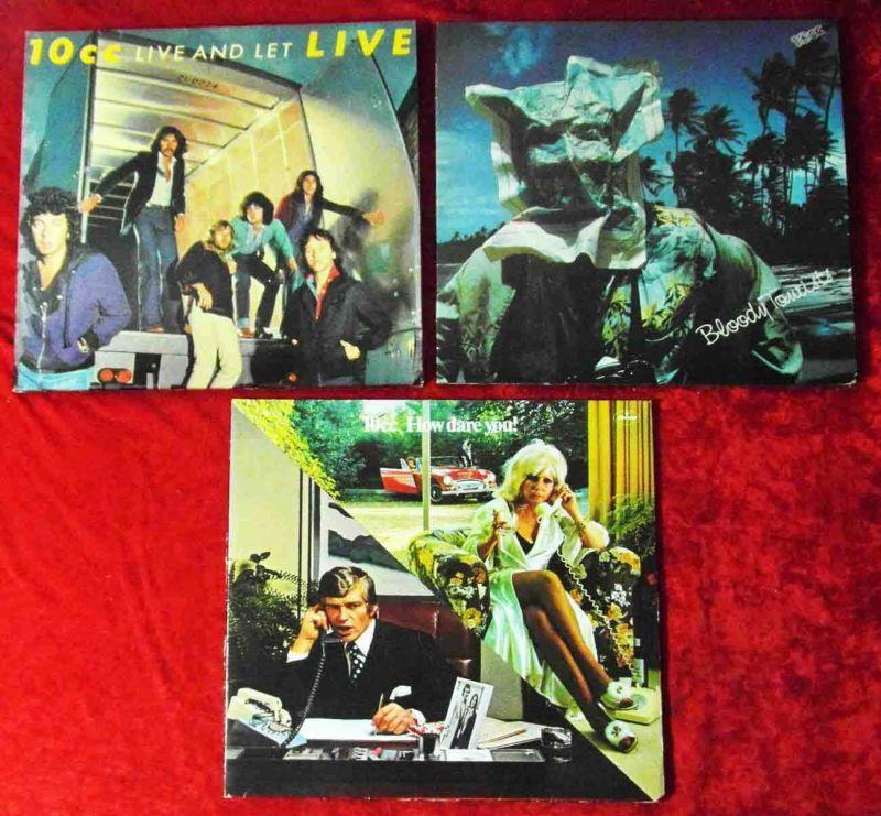 4 Langspielplatten 10 CC   - Vinylsammlung -