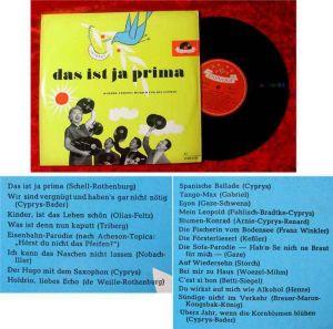 25cm LP Friedel Hensch & Cyprys: Das ist ja prima 10 Jahre...Polydor 45 080 LPH