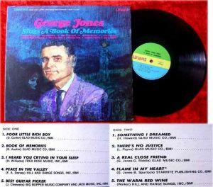 LP George Jones Sings a Book of Memories