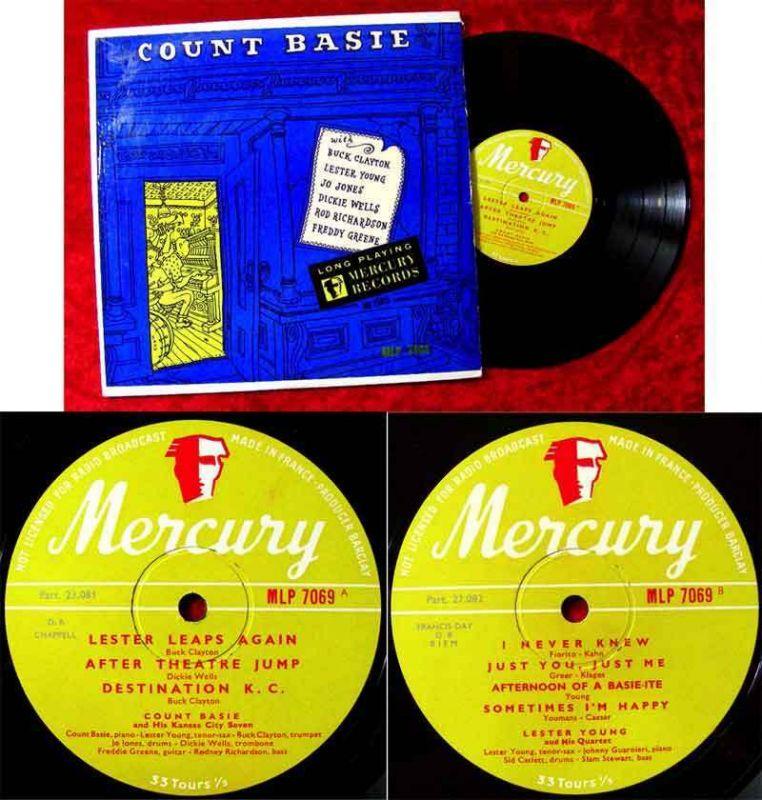 25cm LP Count Basie w/ Buck Clayton Lester Young (Mercury MLP 7669) F