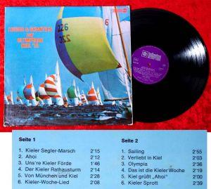 LP Lieder & Shanties zur Olympiade Kiel 1972 (Bellaphon Resono BWS 362) D 1972