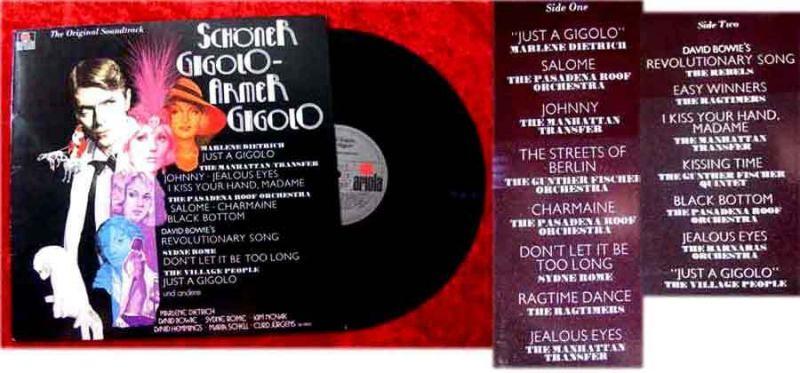 LP Schöner Gigolo - armer Gigolo (David Bowie Marlene Dietrich Sydne Rome) D 78