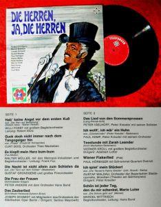 LP Die Herren, ja, die Herren (Telefunken NT 905) D (Freundin-Serie)