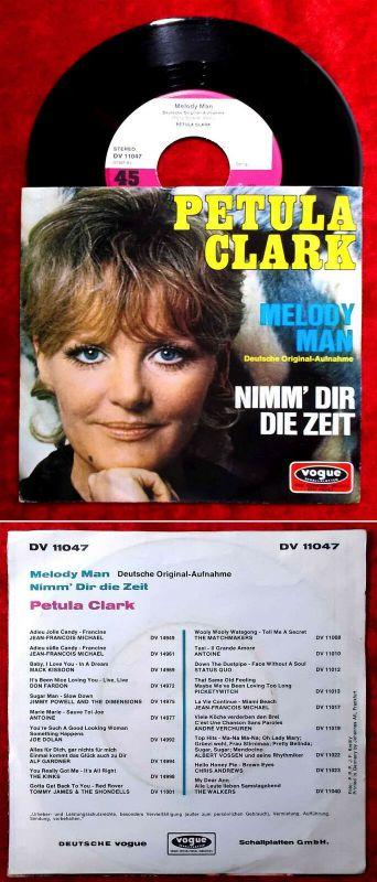 Single Petula Clark: Melody Man (dt. Version) (Vogue DV 11047) D 1970