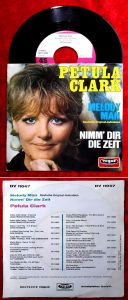 Single Petula Clark: Melody Man (dt. Version) (Vogue DV 11047) D 1970