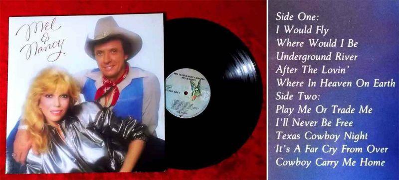 LP Nancy Sinatra & Mel Tillis: Mel & Nancy (Elektra 52 333) D 1981