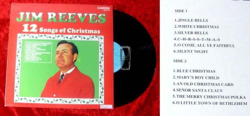 LP Jim Reeves: 12 Songs of Christmas
