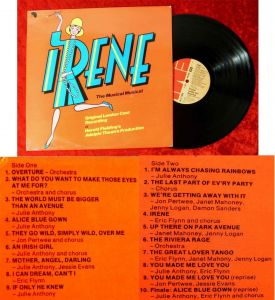 LP Irene - Original London Cast Recording (EMI EMC 3139) UK 1976