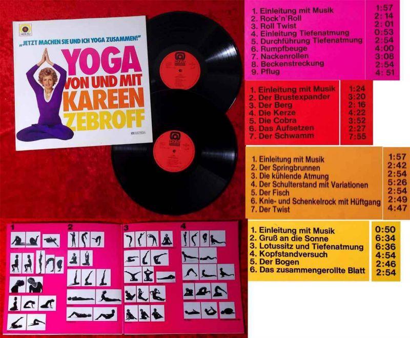 2LP Yoga von und mit Kareen Zebroff (Hör Zu 1C 152-29 580/81) D 1974