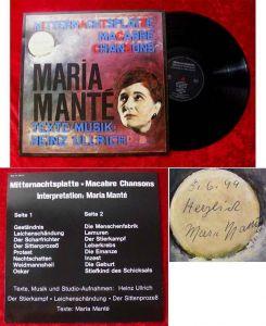 LP Maria Manté: Mitternachtsplatte Signiert