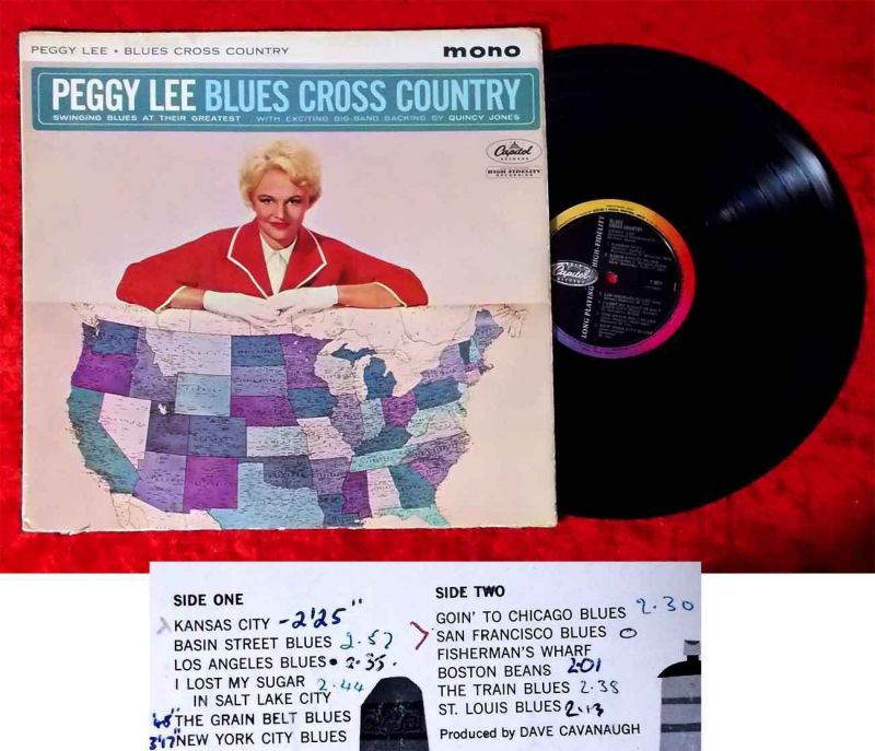 LP Peggy Lee: Blues Cross Country (Capitol T 1671 Mono) UK 1962