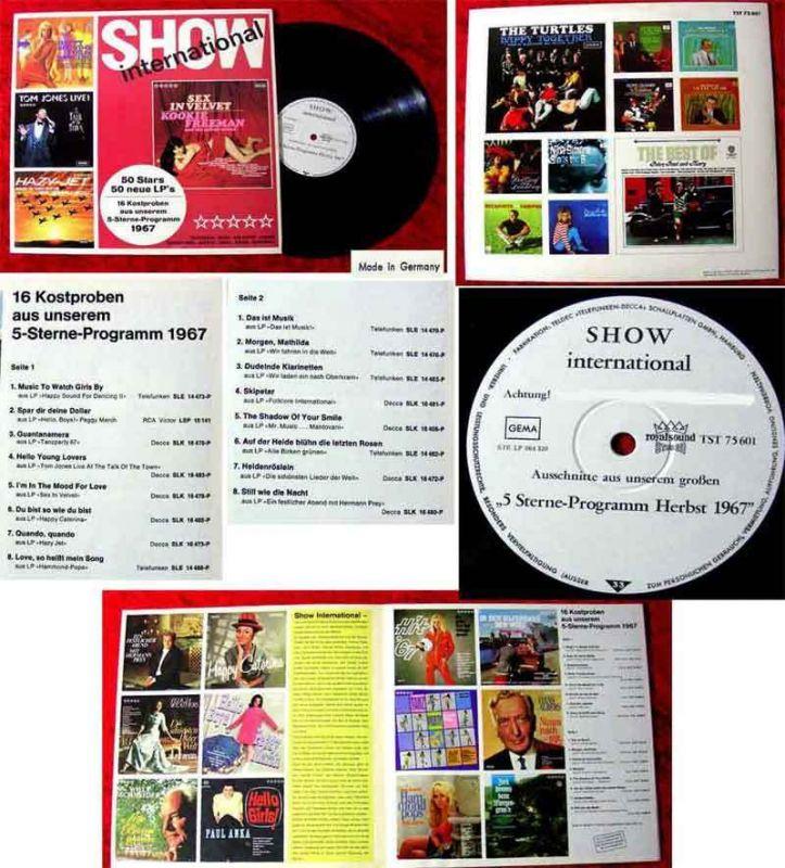 LP Show International 50 Stars 50 Neue LP´s Teldec 1967