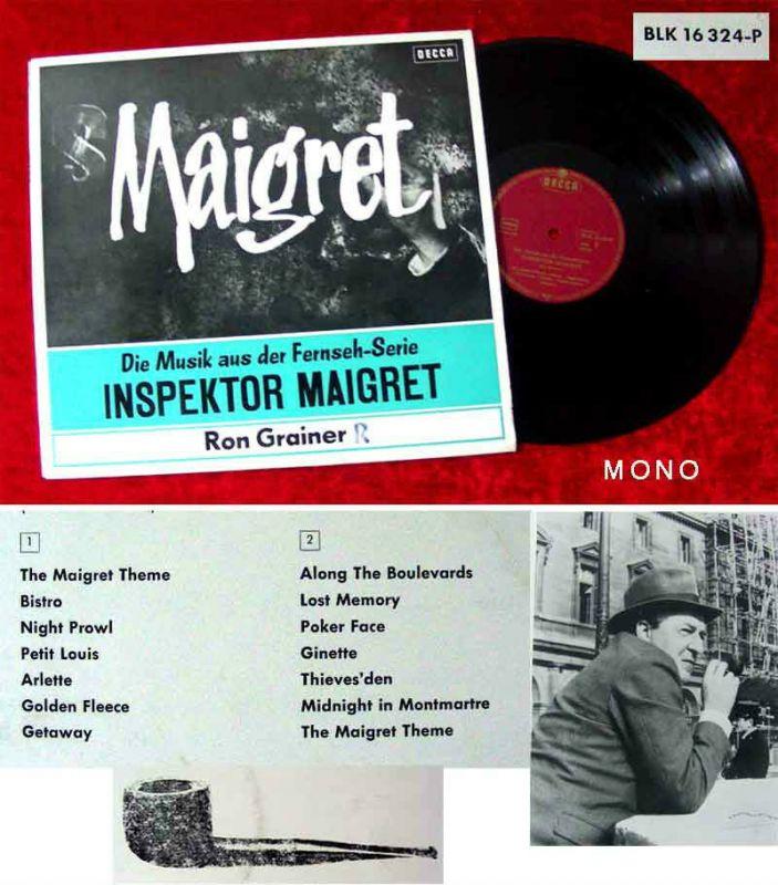 LP Ron Grainer: Maigret - Musik aus der TV-Serie (Decca BLK 16 324-P) D 1964