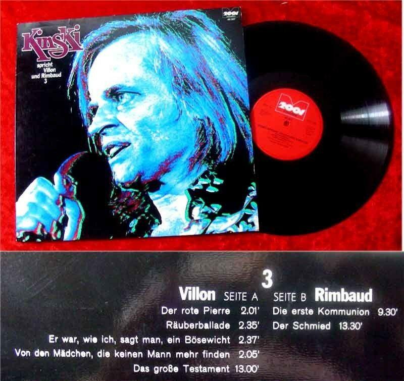 LP Klaus Kinski spricht Villon und Rimbaud 3