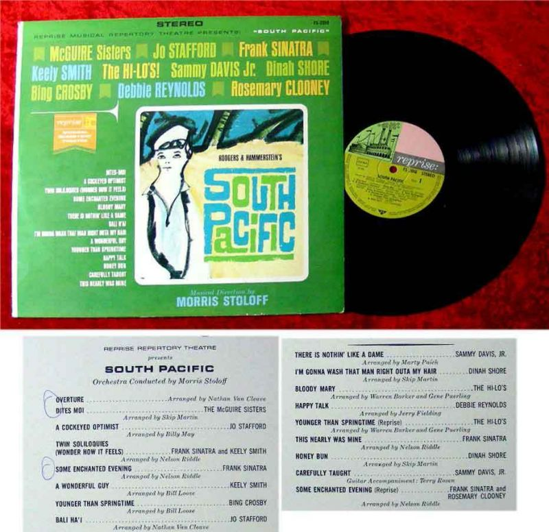 LP South Pacific Sinatra Martin Davis Crosby 1964