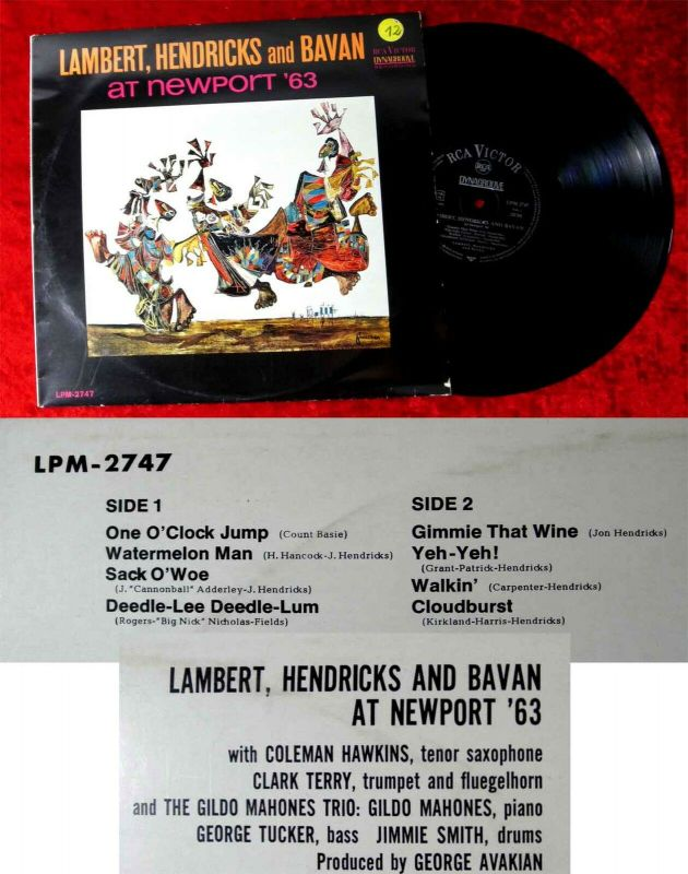 LP Lambert Hendricks & Bavan at Newport 1963 (RCA LPM-2747) D