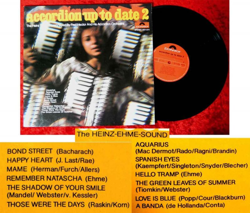 LP Heinz Ehme Sound Played by Fred Hector & Accordion Orchestra: Accordion up...