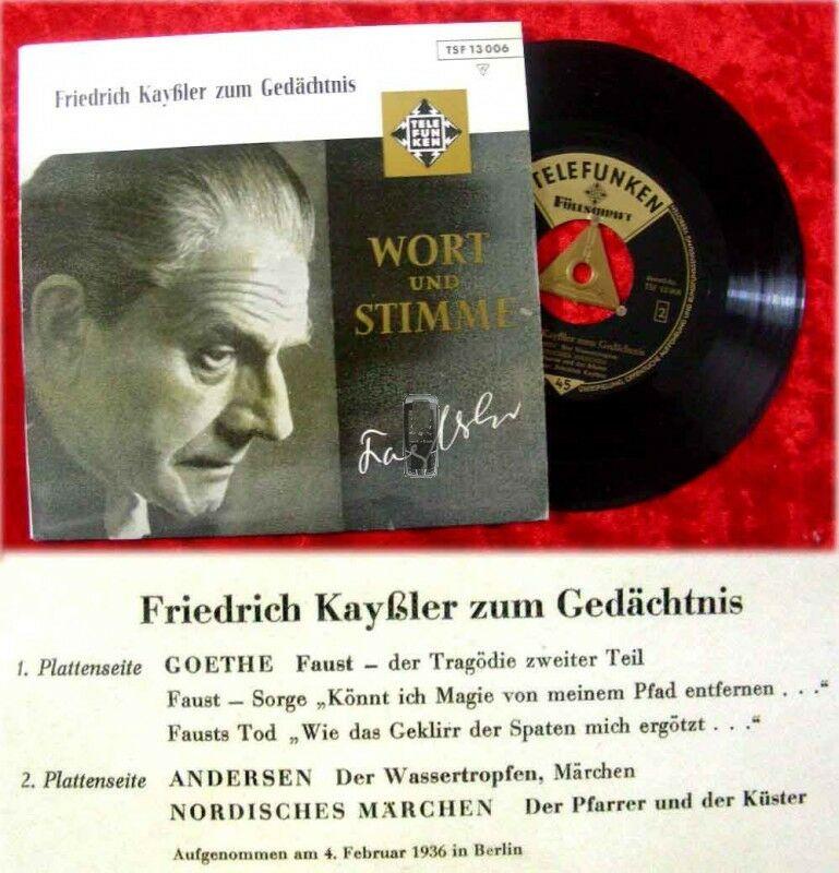 EP Friedrich Kayssler zum Gedächtnis 04. Februar 1936