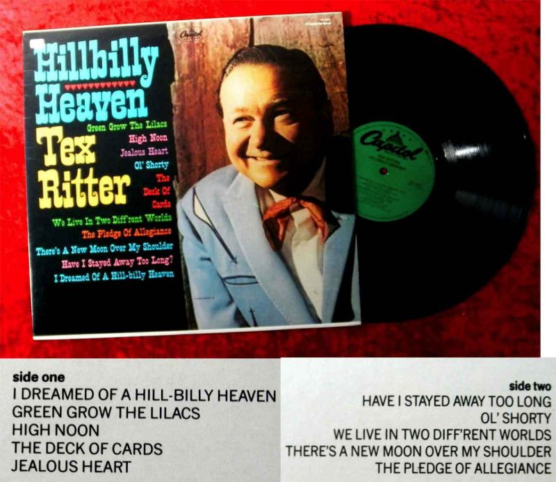 LP Tex Ritter: Hillbilly Heaven (Capitol SN-16201) US incl. High Noon