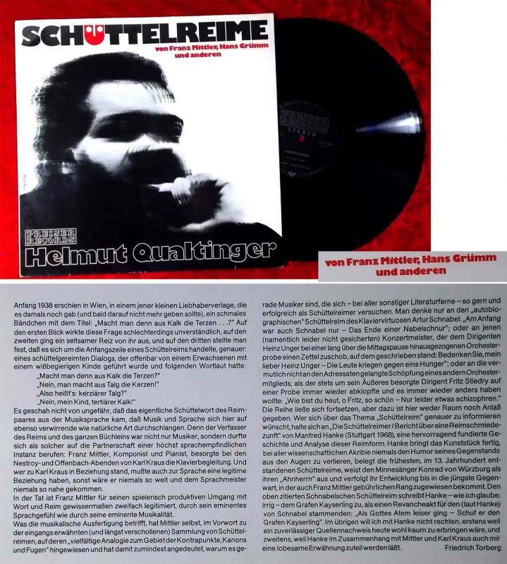 LP Helmut Qualtinger: Schüttelreime (Preiser SPR 3234) A