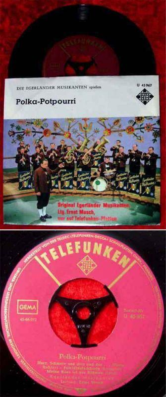 Single Ernst Mosch & Egerländer Musikanten: Polka-Potpourri (Telefunken U 45967)