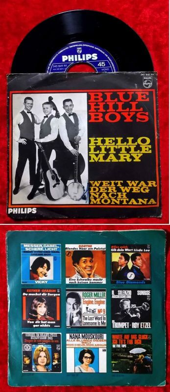Single Blue Hill Boys: Hello Little Mary (Philips 345 840 PF) D 1965