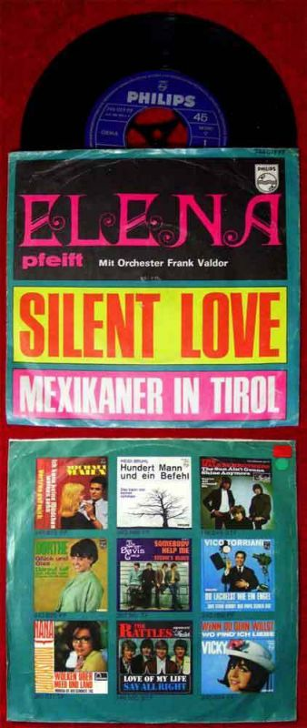 Single Elena & Frank Valdor: Silent Love  (Philips 346 019 PF) D