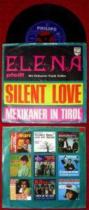 Single Elena & Frank Valdor: Silent Love  (Philips 346 019 PF) D
