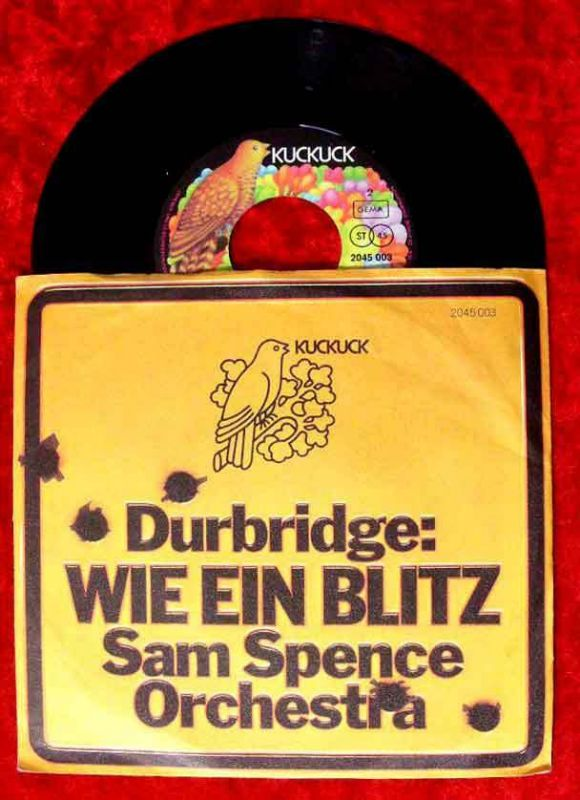 Single Sam Spence Orchestra: Wie ein Blitz (Francis Durbridge TV 1970) Rarität