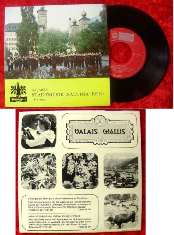 Single 100 Jahre Stadtmusik Saltina Brig 1872 - 1972