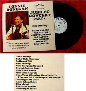 LP Lonnie Donegan Jubilee Concert Part 1 Chris Barber K