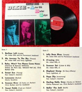 LP Acker Bilk Chris Barber Ken Colyer Dixie