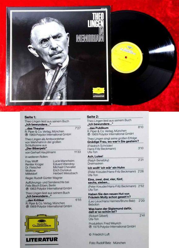 LP Theo Lingen - In Memoriam (DGG 2570 204) D 1978