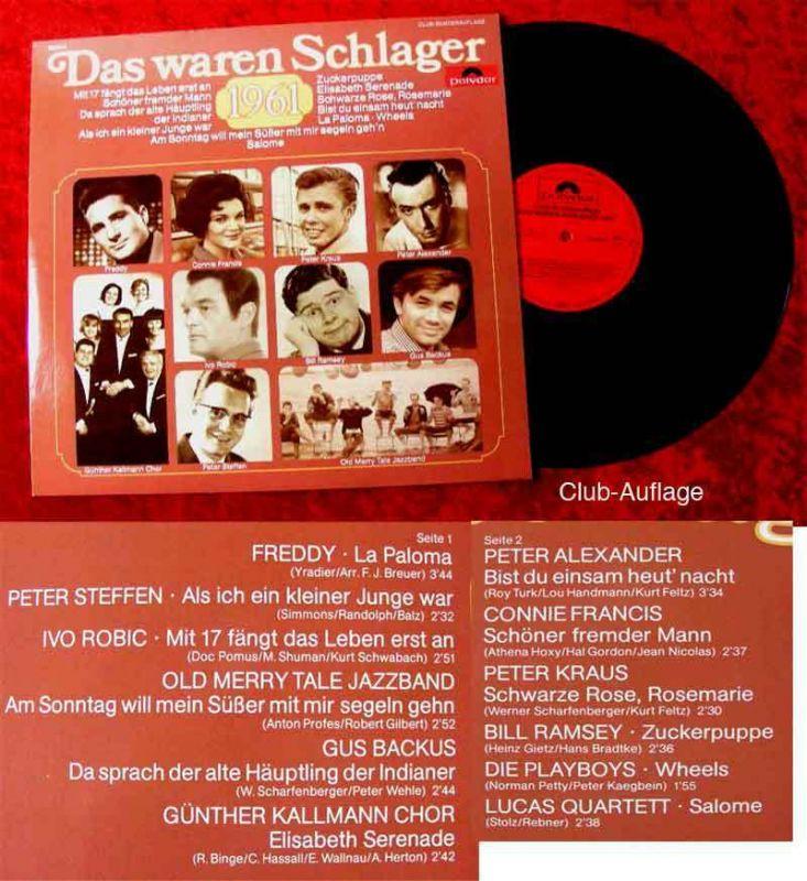 LP Das waren Schlager 1961