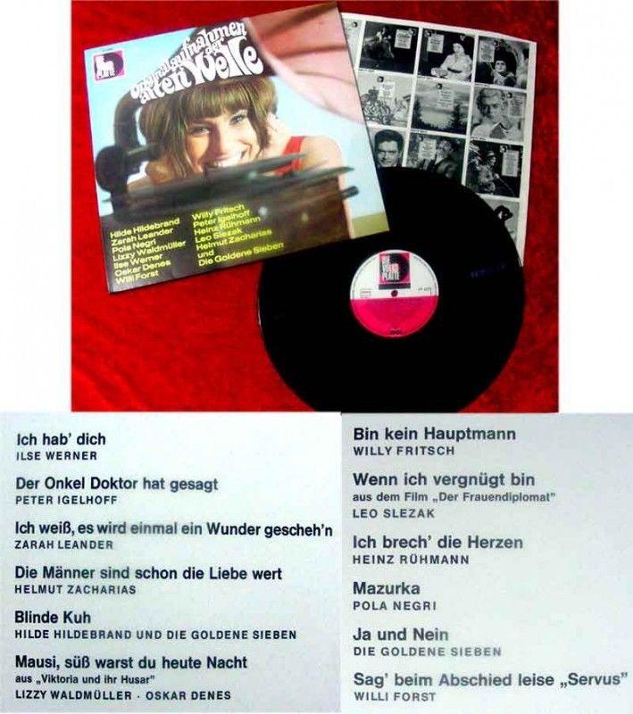 LP Originalaufnahmken der alten Welle Hilde Hildebrand