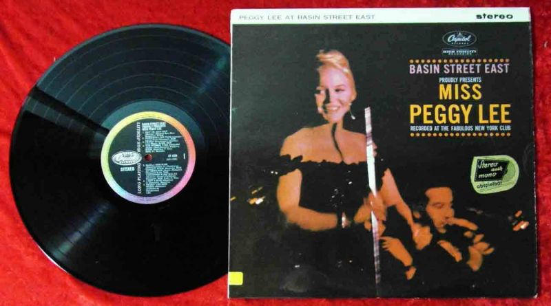 LP Peggy Lee at Basin Street East (Capitol ST 1520) UK 1961