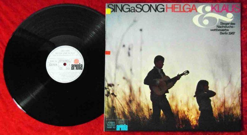 LP Helga & Klaus: Sing A Song (Ariola 76 957 XU) D 1967