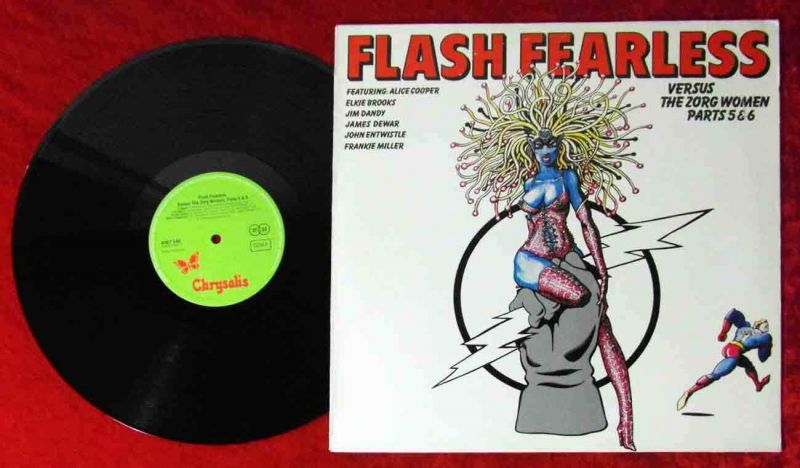LP Flash Fearless versus The Zorg Women Parts 5&6 feat Alice Cooper (Chrysalis)