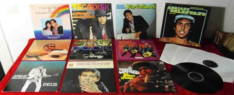 13 Langspielplatten ADRIANO CELENTANO  - Vinylsammlung -